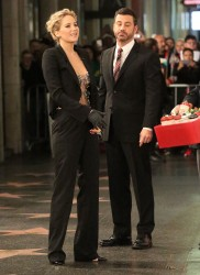 Jennifer Lawrence Visiting Jimmy Kimmel Live! in Hollywood - 12/12/16