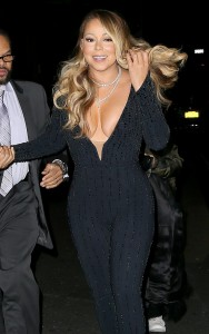 Mariah Carey - Cleavage Departing The Beacon Theater in New York City 912/13/16)