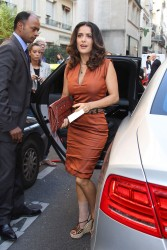 Salma Hayek - Arriving At Balenciaga 2012 Fashion Show