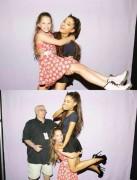 Ariana Grande has trouble lifting girl