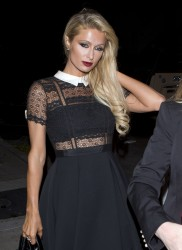 Paris Hilton - Out for dinner in West Hollywood 12/22/16