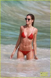 Izabel Goulart - Bikini Candids at the beach in St. Barts 12/28/16
