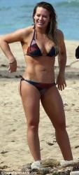 Hilary Duff Wearing a Bikini at a Beach in Hawaii - 12/31/16