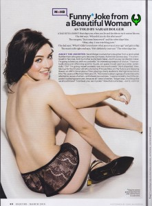 Sarah Bolger: Sexy & Cute Wearing Lingerie - Esquire March 2015 - HQ x 1