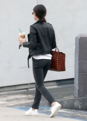 Lucy Hale - Leaving a nail salon in LA 1/3/17