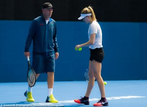 Genie Bouchard - at practice & Bondi Beach in Sydney, Australia - 01/06/2017