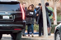 Emma Watson on the set of The Circle in Los Angeles - 1/6/17