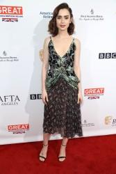 Lily Collins - The BAFTA Tea Party in LA 1/7/17
