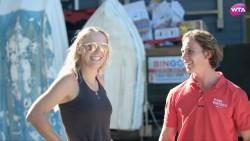 Caroline Wozniacki paddleboarding in Sydney x17