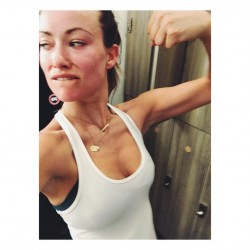 Olivia Wilde - at the gym - instagram