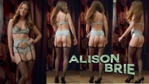 Alison Brie Lingerie Wallpaper