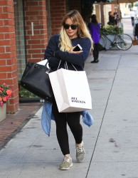Hilary Duff - Shopping in Beverly Hills 1/11/17
