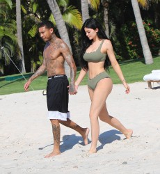 Kylie Jenner - Bikini candids at the beach in Puerto Vallarta, Mexico 1/4/17