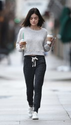 Lucy Hale - Leaving Starbucks in LA 1/12/17