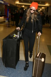 Gigi Hadid - At JFK Airport 1/13/17