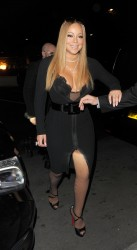 Mariah Carey - Major Cleavage Out & About In London (1/14/17)