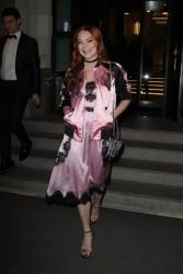 Lindsay Lohan - Leaving her hotel in Milan 1/14/17