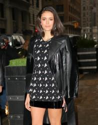 Nina Dobrev - Heading to AOL Studios in NYC 1/17/17