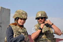JoAnna Garcia Swisher and Nick Swisher in army gear x1 plus JoAnna Instagrams x12