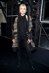 Sofia Richie - Balmain Menswear Show in Paris 1/21/17