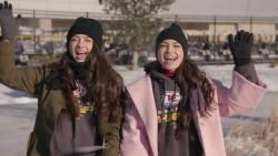 Veronica and Vanessa Merrell visit Arrowhead Stadium x45