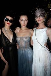 Bella Hadid - Wearing a See-Thru Dress at the Dior Ball in Paris 1/23/17