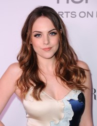 Elizabeth Gillies at The Harper's Bazaar Cocktail Party in Los Angeles - 1/27/17