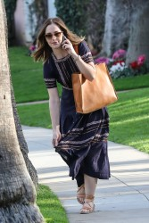 Minka Kelly - Out and About in Beverly Hills 01/30/2017