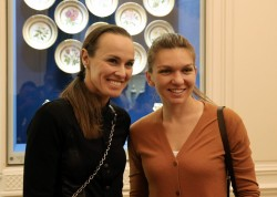 Martina Hingis & Simona Halep - At the Faberge Museum in St Petersburg 17/1/31