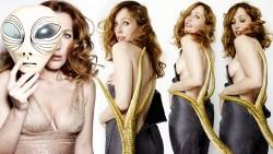 Gillian Anderson, Heidi Klum, Olivia Munn, Scarlett Johansson (Wallpapers) 6x
