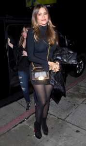 Sofia Vergara - Wears A LBD At Serafina Restaurant In West Hollywood (2/3/17)
