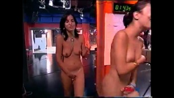 Girl stripping naked on tv