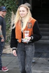 Sophie Turner - Stops by Alfred's For a Beverage - February 07, 2017