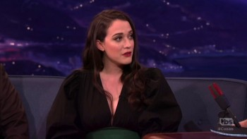 KAT DENNINGS - Narrow yet deep CLEAVAGE - Conan 02.09.17