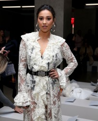 Shay Mitchell - Zimmermann Fall 2017 Fashion Show in NYC 2/13/17