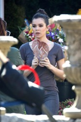 Hailee Steinfeld - On the set of 'Pitch Perfect 3' in Atlanta 2/14/17