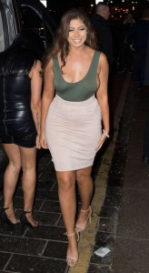 Chloe Ferry - Braless Sideboobs While Geordie Shore Filming At TupTup Palace, London (2/16/17)