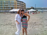 Catherine Bell - at beach Twitter pic from 2008