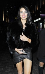 Adriana Lima - Out in London 2/18/17