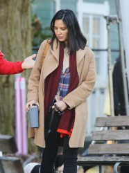 Olivia Munn - On the set of The Predator in Vancouver 2/20/17