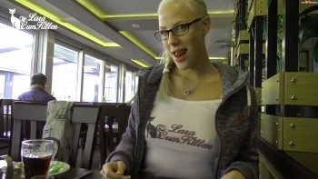 [MyDirtyHobby.com] Lara-CumKitten (DREIST — fucked in restaurant public Spermawalk / 2/19/17) [2017 г., amateur, blonde, blowjob, comshot, doggy style, facial, german, glasses, medium natural tits, public, 1080p] online