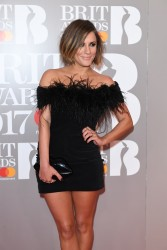 Caroline Flack -                    The Brit Awards London February 22nd 2017.