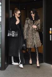 Gigi & Bella Hadid - Leaving their hotel in Milan 2/22/17