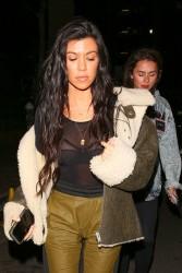 Kourtney Kardashian - Leaving church service in LA 2/22/17