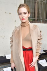 Zoey Deutch - Max Mara Fall 2017 Fashion Show in Milan 2/23/17
