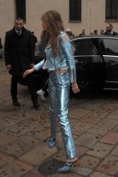 Gigi Hadid - On set of a photoshoot in Milan 2/24/17