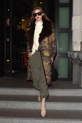 Gigi Hadid - Leaving her hotel in Milan 2/25/17