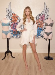 Romee Strijd - Promoting Victoria's Secret Dream Angel Collection in NYC 2/28/17