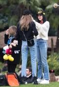 Gigi & Bella Hadid - At Disneyland in Paris 2/26/17