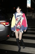 Bella Hadid - Attending a Tommy Hilfiger Party in Paris 2/28/17